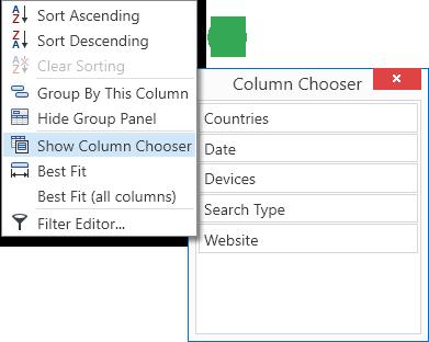 Data Set - Column Chooser