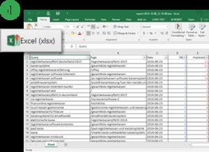 Data Set - Export to Excel