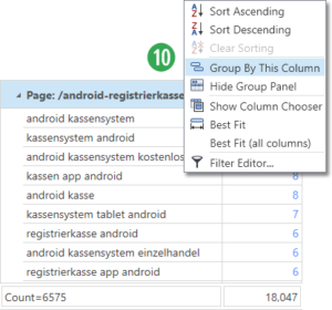 Data Set - Group by Query