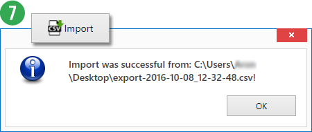 Data Set - Import