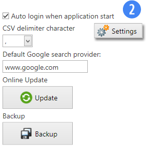 Other Features - Backup