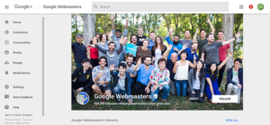 Google+ Webmasters