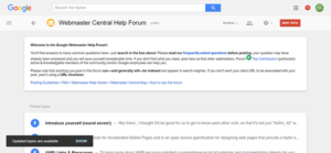 Webmaster Central Help Forum