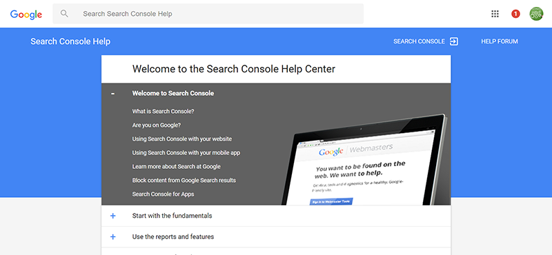 Search Console Help