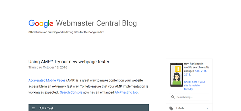 Official Google Webmasters Blog