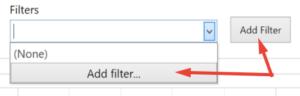 Keyword Filtering: Add Filter