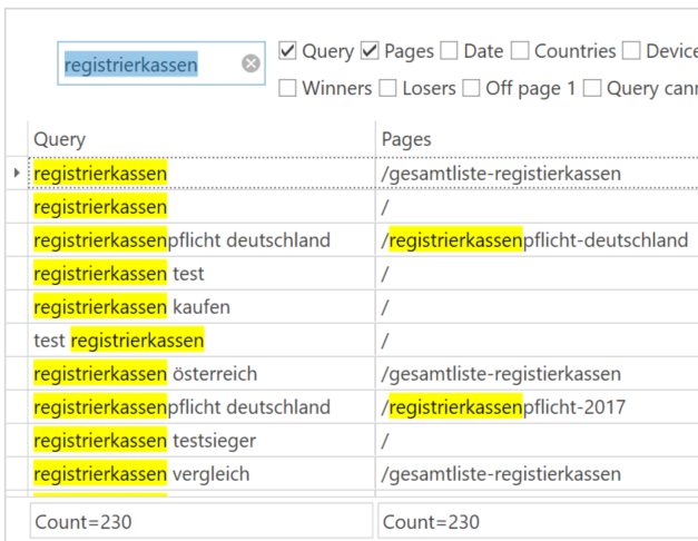 Kwd Filtering Searchbox Search Console Helper