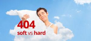 Fixing crawl errors: soft 404 vs hard 404