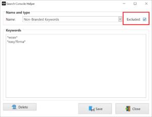 Keyword Filter: Non-Branded Keywords