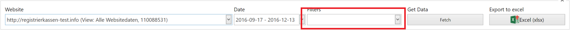Google Analytics: Add Filter