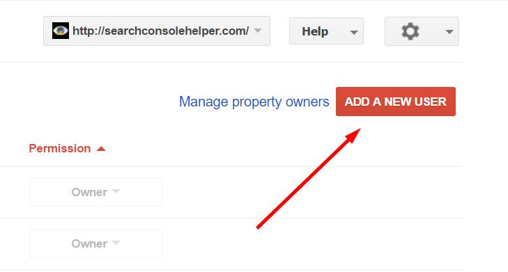 Share Google Search Control Access: Add New User