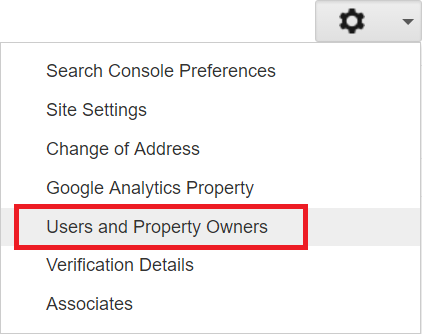 Share Google Search Console Data: Users & Permissions